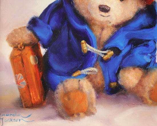 Amanda Jackson, Original oil painting on panel, Our Favourite Bear Signature image. Click to enlarge