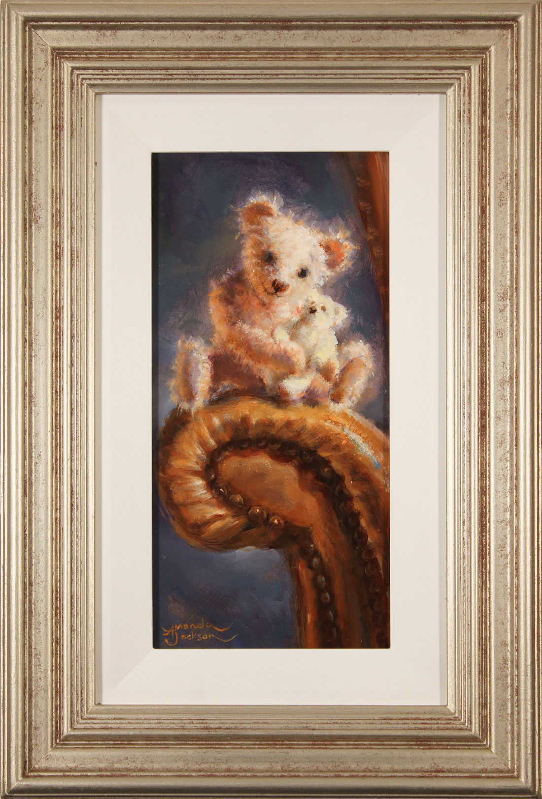 Amanda Jackson, Original oil painting on panel, Two Peas in a Pod Click to enlarge