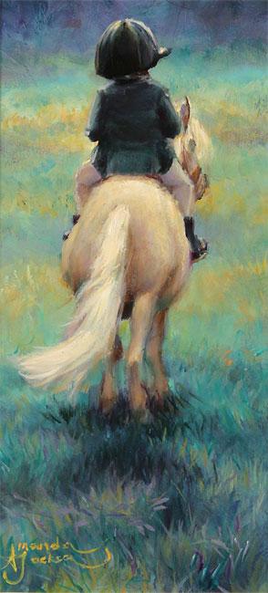 Amanda Jackson, Original oil painting on panel, My Little Pony No frame image. Click to enlarge