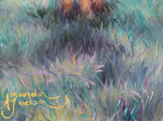 Amanda Jackson, Original oil painting on panel, My Little Pony Signature image. Click to enlarge