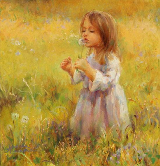 Amanda Jackson, Original oil painting on panel, Golden Memories No frame image. Click to enlarge