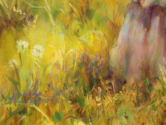 Amanda Jackson, Original oil painting on panel, Golden Memories Signature image. Click to enlarge