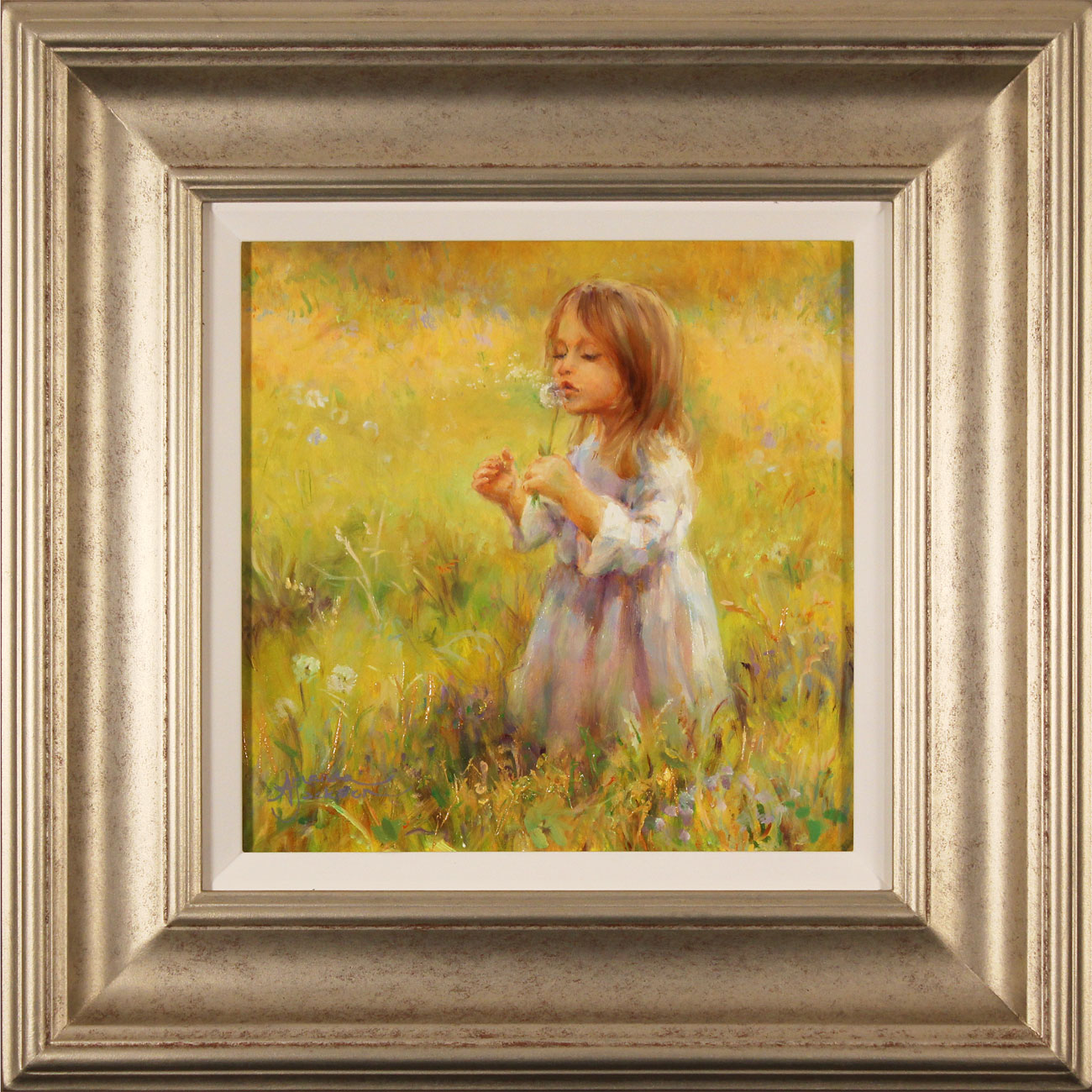 Amanda Jackson, Original oil painting on panel, Golden Memories Click to enlarge