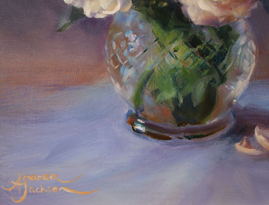 Amanda Jackson, Original oil painting on panel, Garden Bouquet  Signature image. Click to enlarge