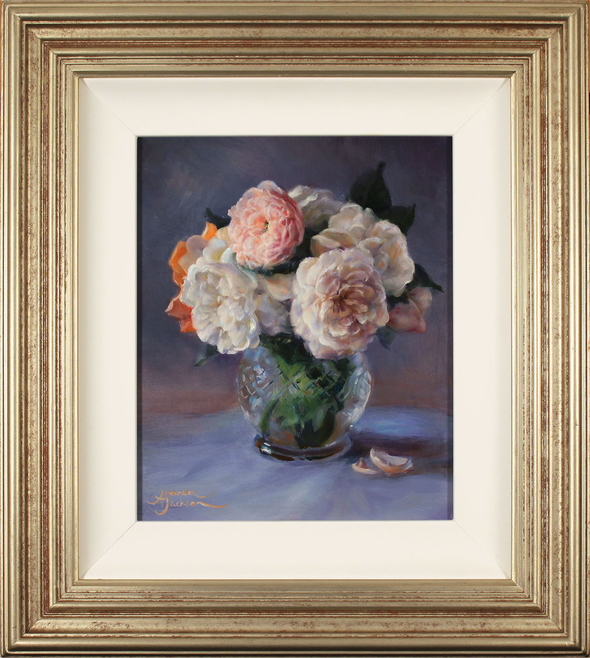 Amanda Jackson, Original oil painting on panel, Garden Bouquet  Click to enlarge
