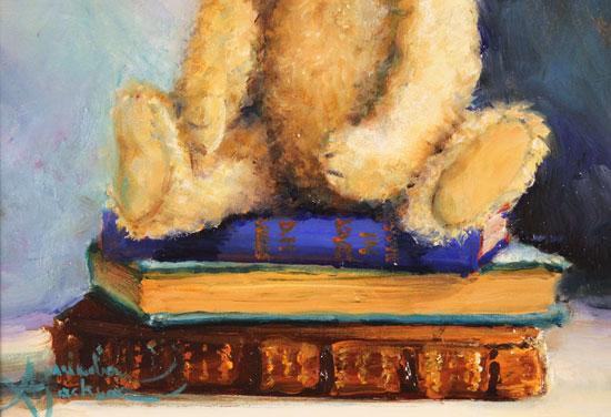 Amanda Jackson, Original oil painting on panel, True Classics  Signature image. Click to enlarge