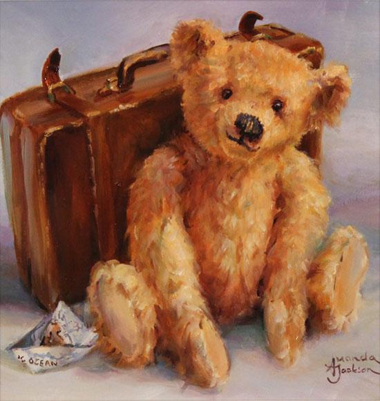 Amanda Jackson, Original oil painting on panel, The Adventurer  No frame image. Click to enlarge
