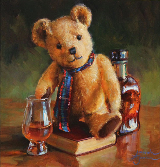 Amanda Jackson, Original oil painting on panel, The Whisky Connoisseur  No frame image. Click to enlarge