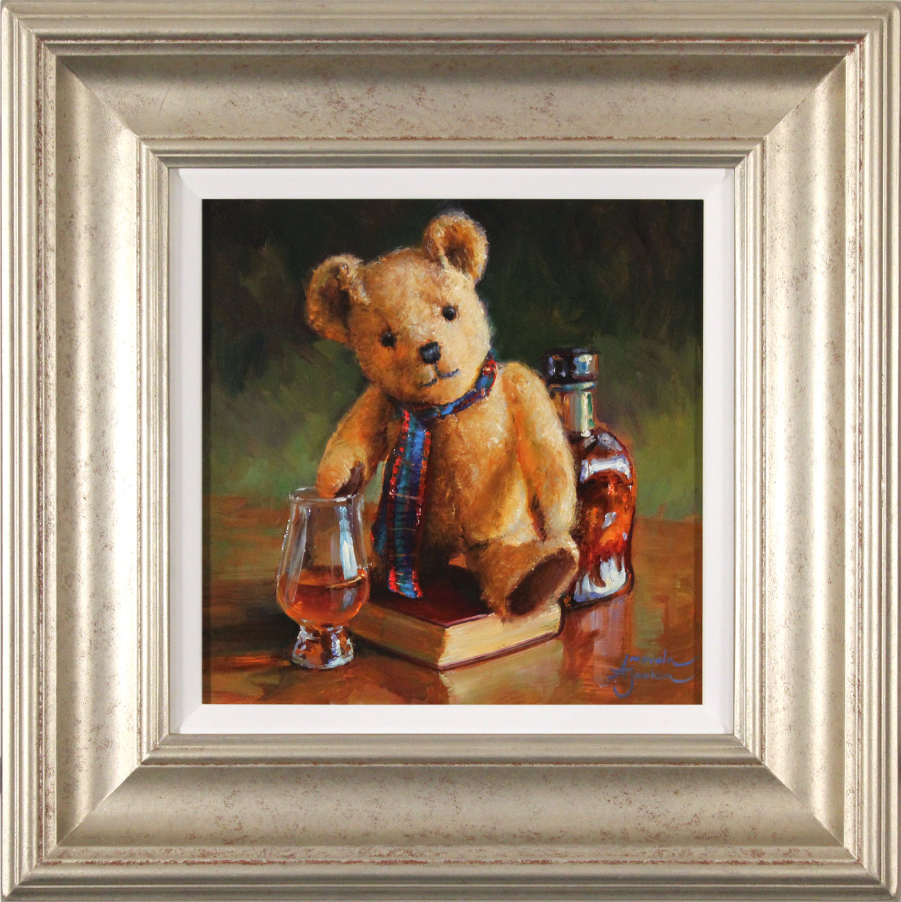 Amanda Jackson, Original oil painting on panel, The Whisky Connoisseur  Click to enlarge