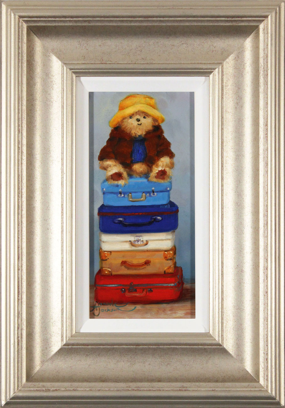 Amanda Jackson, Original oil painting on panel, Top of the World Travelling Bear Click to enlarge