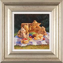 Amanda Jackson, Original oil painting on panel, Teddy Bear's  Picnic Medium image. Click to enlarge
