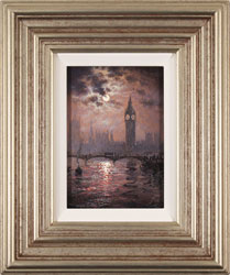 Andrew Grant Kurtis, Original oil painting on canvas, Westminster Chimes at Midnight