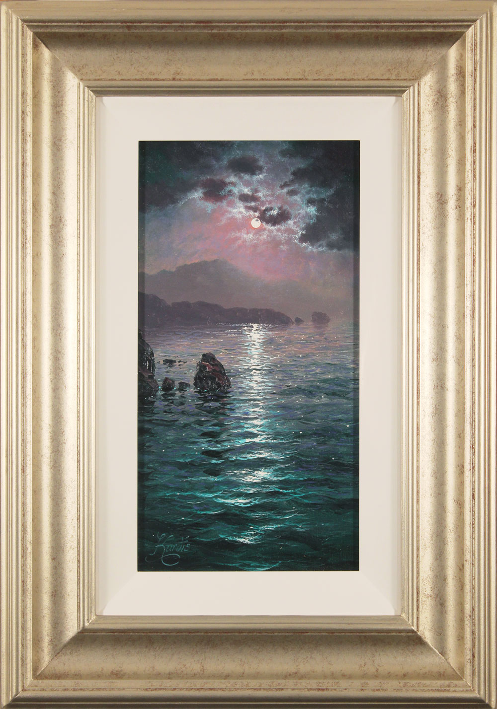 Andrew Grant Kurtis, Original oil painting on canvas, Moonlight Sparkle, Lakeland Click to enlarge