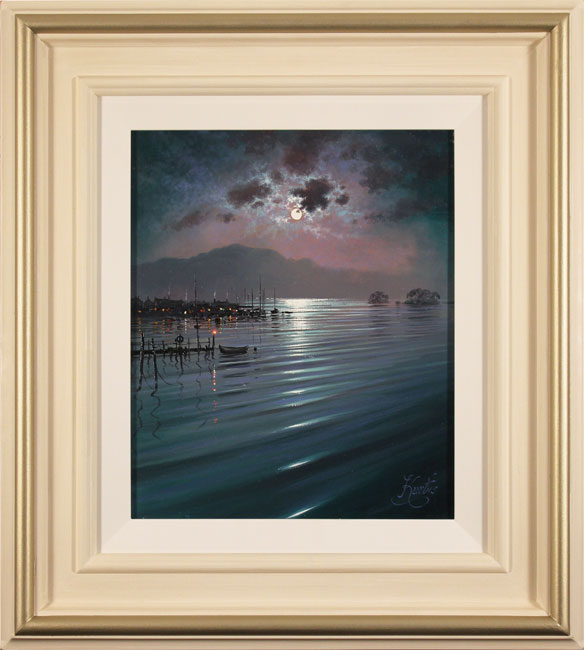 Andrew Grant Kurtis, Original oil painting on canvas, Nocturne Relfections, Lakeland