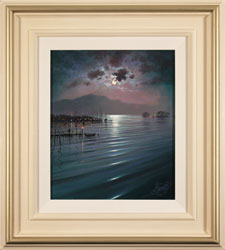 Andrew Grant Kurtis, Nocturne Relfections, Lakeland, Original oil painting on canvas