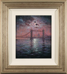 Andrew Grant Kurtis, Original oil painting on canvas, Tower Bridge by Moonlight