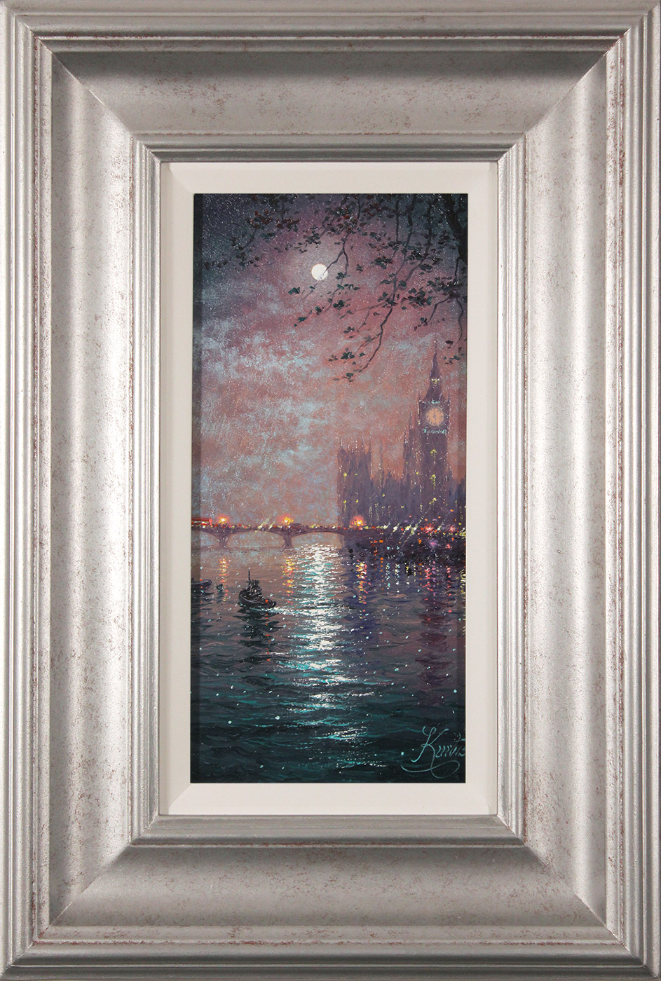 Andrew Grant Kurtis, Original oil painting on panel, Westminster Chimes at Midnight  Click to enlarge
