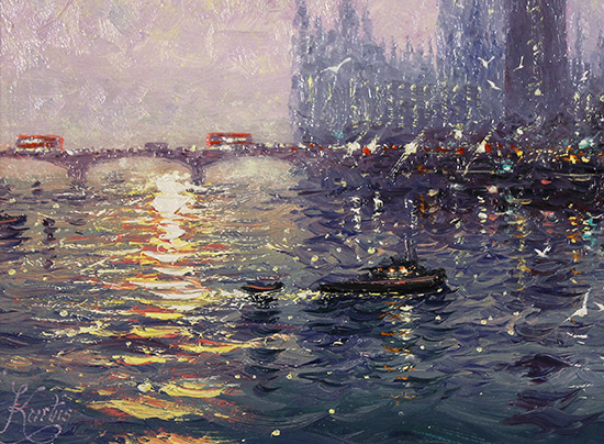 Andrew Grant Kurtis, Original oil painting on panel, Westminster Haze Signature image. Click to enlarge