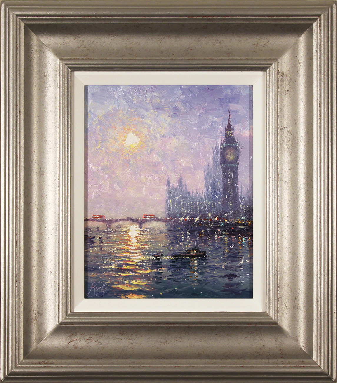 Andrew Grant Kurtis, Original oil painting on panel, Westminster Haze Click to enlarge