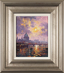 Andrew Grant Kurtis, Original oil painting on panel, Thames Sparkle Medium image. Click to enlarge