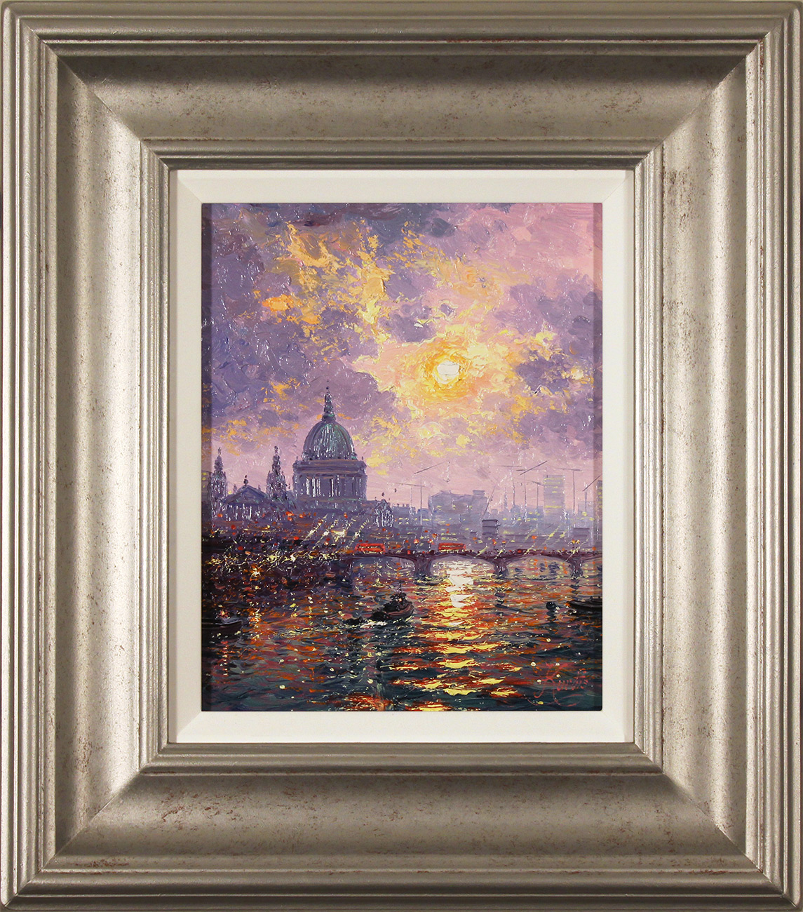 Andrew Grant Kurtis, Original oil painting on panel, Thames Sparkle Click to enlarge