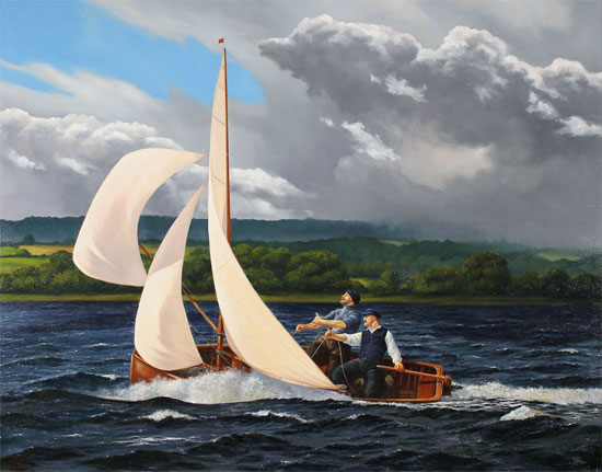 Andrew Stranack Walton, Original oil painting on canvas, A Wild Ride No frame image. Click to enlarge