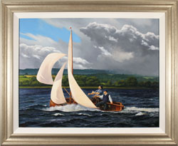 Andrew Stranack Walton, Original oil painting on canvas, A Wild Ride Medium image. Click to enlarge