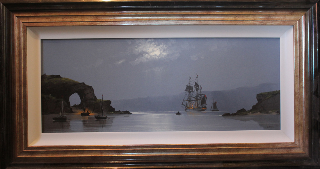 Les Spence, Original oil painting on canvas, Marine Scene Click to enlarge