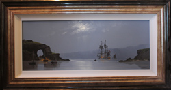 Les Spence, Original oil painting on canvas, Marine Scene