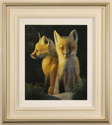 Ben Waddams, A Curious Pair, Original oil painting on panel