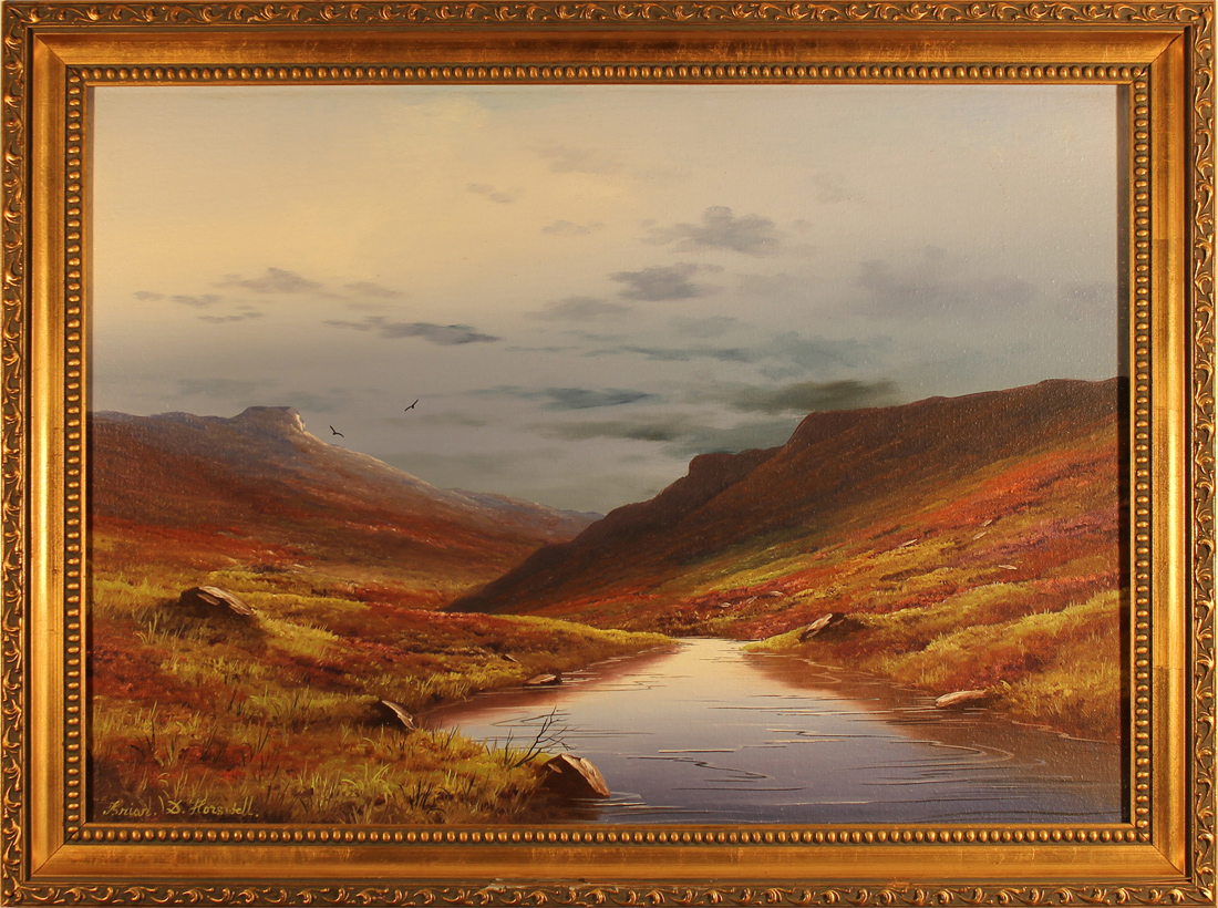 Brian Horswell, Original oil painting on panel, Landscape Click to enlarge