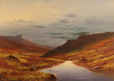 Brian Horswell, Original oil painting on panel, Landscape No frame image. Click to enlarge