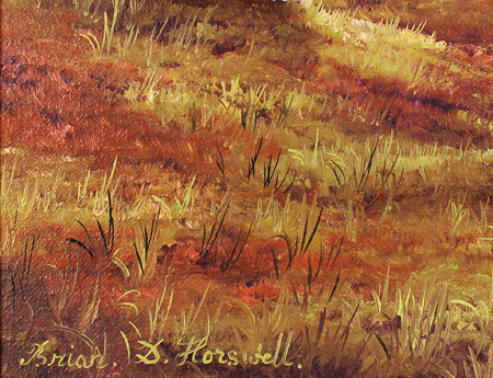 Brian Horswell, Original oil painting on panel, Landscape Signature image. Click to enlarge