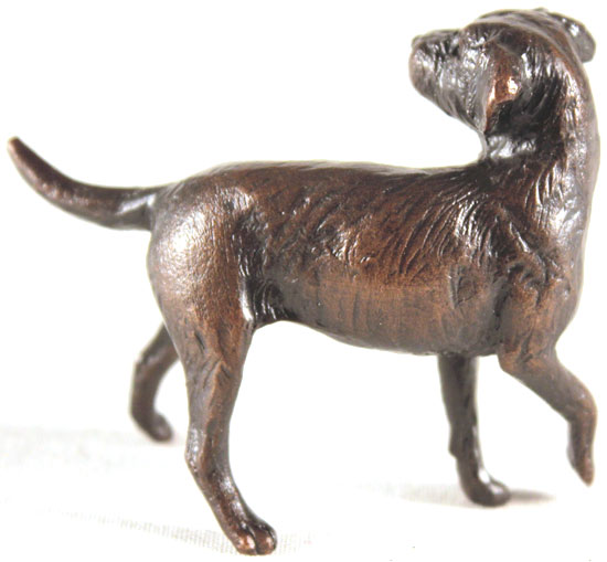 Michael Simpson, Bronze, Border Terrier No frame image. Click to enlarge