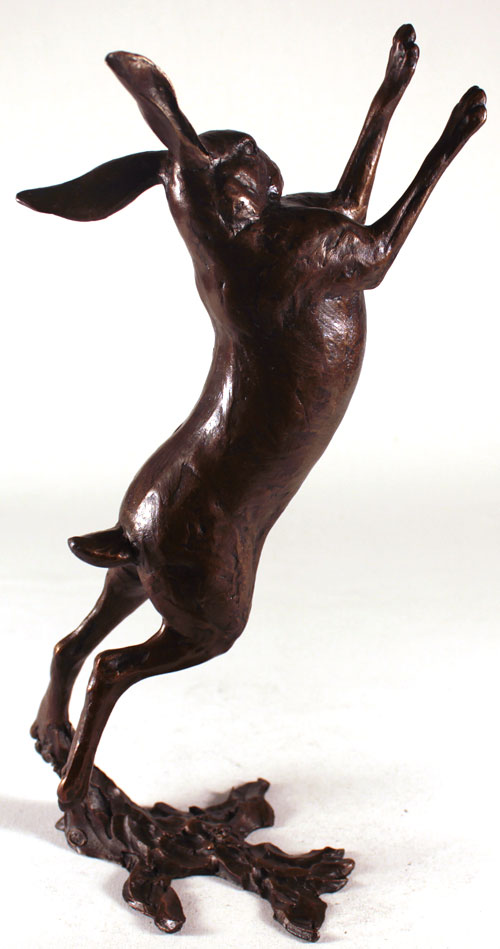 Michael Simpson, Bronze, Large Hare Boxing No frame image. Click to enlarge