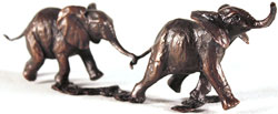 Michael Simpson, Bronze, Follow my Leader Medium image. Click to enlarge
