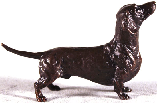 Michael Simpson, Bronze, Dachshund Signature image. Click to enlarge