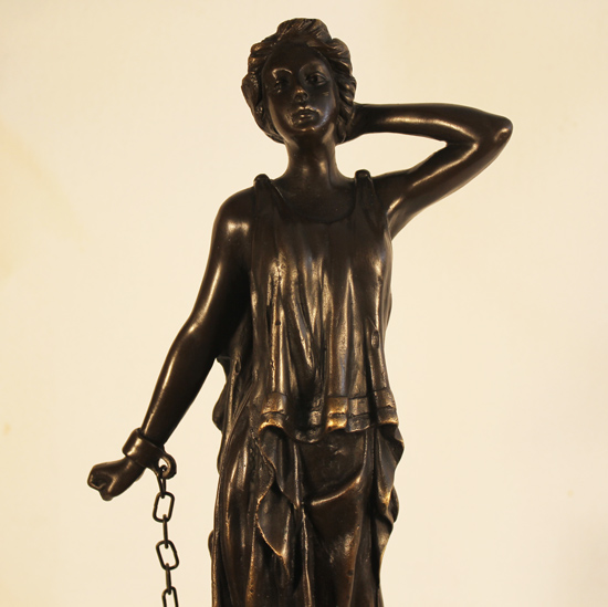 Bronze Statue, Bronze, Captive Signature image. Click to enlarge