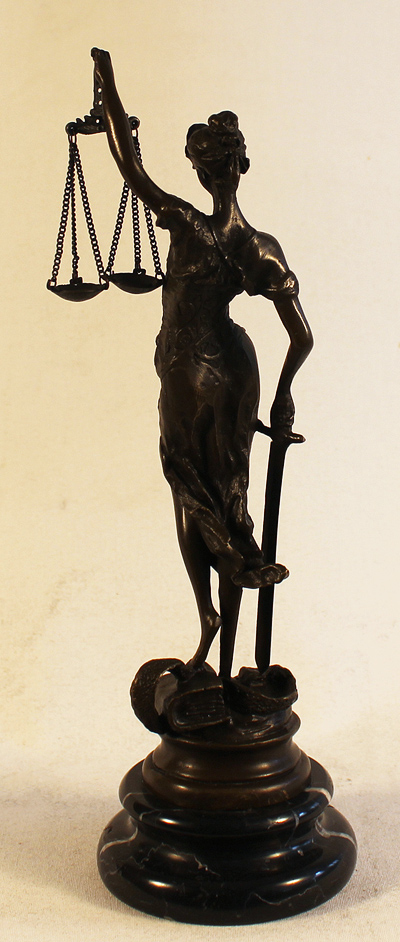 Bronze Statue, Bronze, The Scales of Justice
