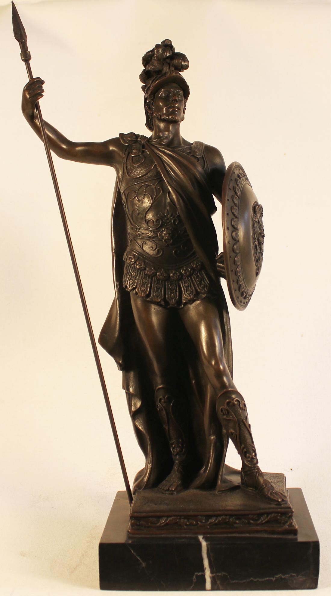 Bronze Statue, Bronze, Roman Soldier Click to enlarge
