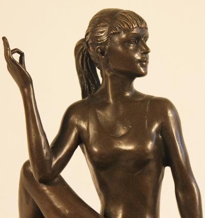 Bronze Statue, Bronze, Meditation Signature image. Click to enlarge