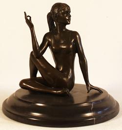Bronze Statue, Bronze, Meditation Medium image. Click to enlarge