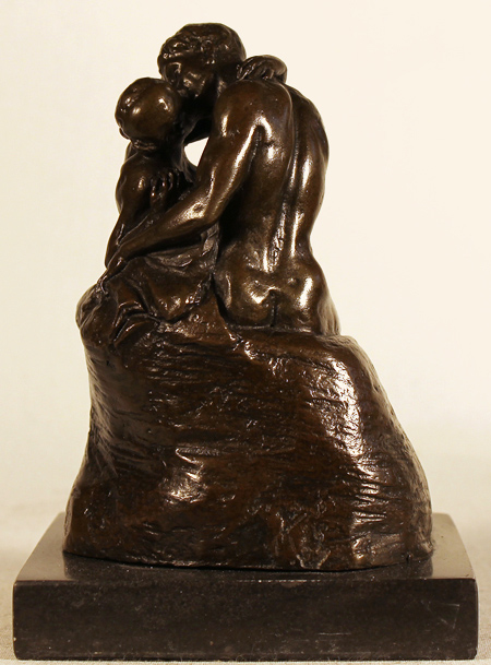 Bronze Statue, Bronze, The Kiss No frame image. Click to enlarge