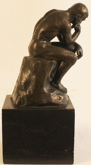 Bronze Statue, Bronze, The Thinker  No frame image. Click to enlarge