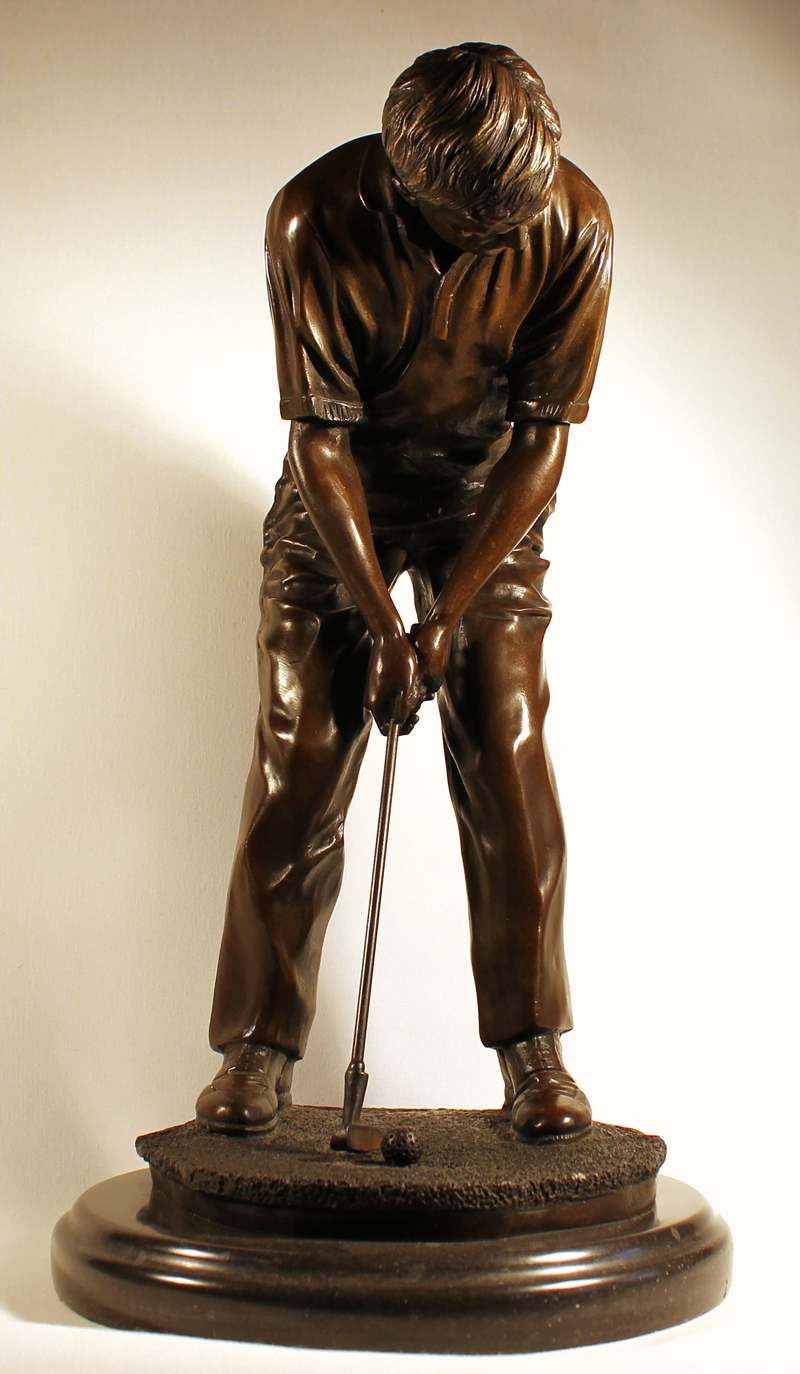 Bronze Statue, Bronze, Hole in One Click to enlarge