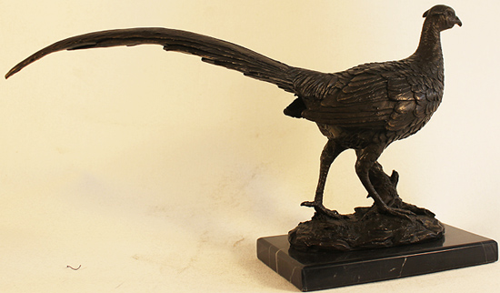 Bronze Statue, Bronze, Pheasant Signature image. Click to enlarge