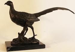Bronze Statue, Bronze, Pheasant Medium image. Click to enlarge