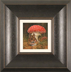 Carl Whitfield, Mouse and Toadstool , Original oil painting on panel