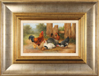 Carl Whitfield, Original oil painting on panel, Farmyard Friends