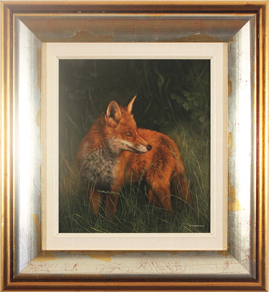 Carl Whitfield, Original oil painting on panel, Twilight Fox